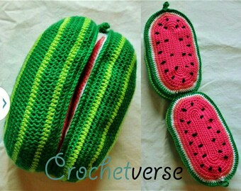 Watermelon Crochet Pattern Amigurumi Play Food Softie Toy