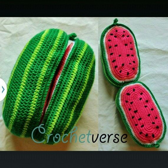 watermelon crochet pattern amigurumi play food softie toy. Black Bedroom Furniture Sets. Home Design Ideas
