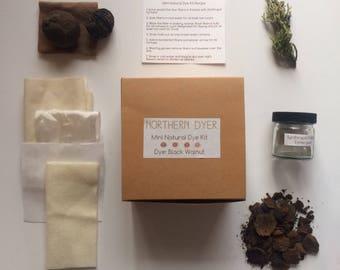 Mini natural dye kit -Black Walnut