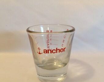 Vintage Anchor 1 Ounce Measuring Glass
