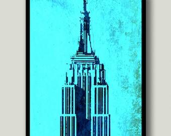 Empire State Building Print, New York City, NYC Printable Art, Printable Art, Instant Download, Printable Wall Art