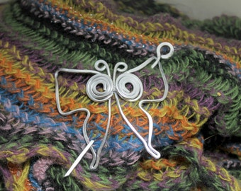 Butterfly Pin to Keep Sweaters, Shawls, Scarves Secured in Place SP18