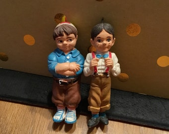 Our Gang / Little Rascals SPANKY and ALFALFA Figures Rubber (1985)