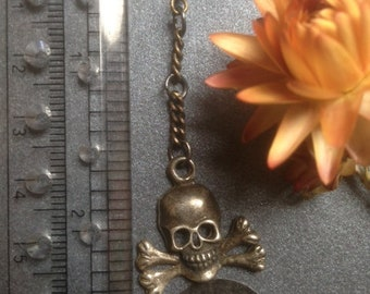 One of a kind deads-stock pewter dangler