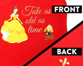 """Disney Shirt for Women, Beauty and the Beast Shirt """"Tale as old as time"""" Ladies Belle Tank"""