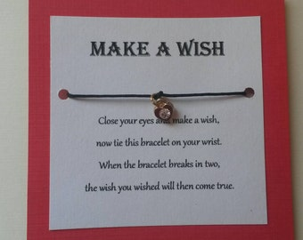 Make a Wish heart charm bracelet