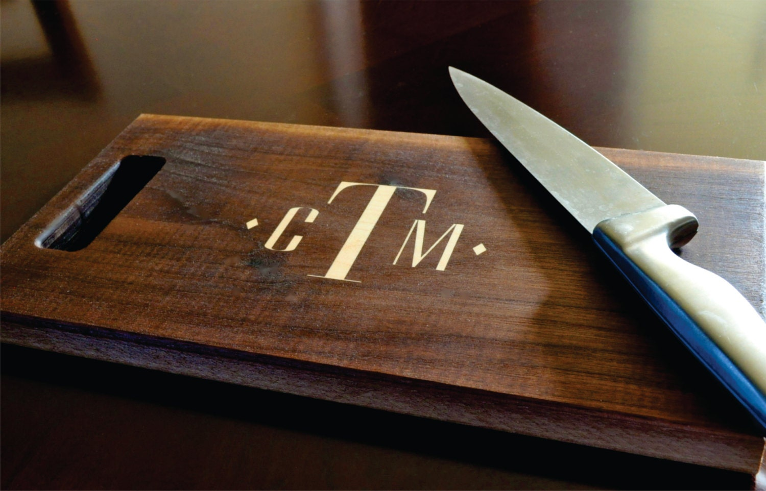 zoom Personalized Cutting Board Inlay Engraved 8x14