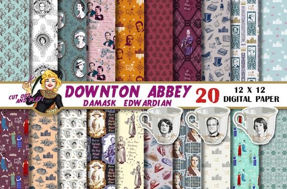 Downton Abbey Digital paper Downton Abbey clipart Downton Abbey