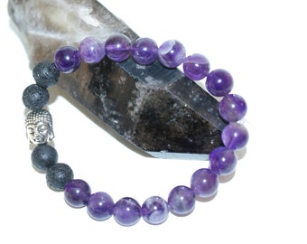 Gemstone & Lava Rock Aromatherapy Diffuser Bracelet, Essential Oils, Aromatherapy Free Sample Bottle Included!
