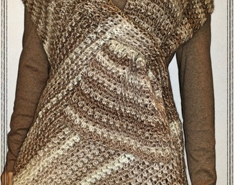 Funky Scarf – Vest Crochet Pattern  PDF - INSTANT DOWNLOAD