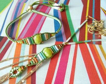 Set - necklace and bracelet - Kathnis together or separate - spring summer Collection