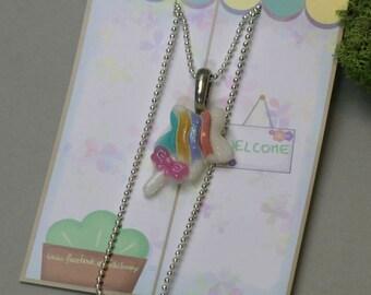 Star Wand Glitter Necklace