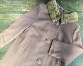 1960s Taupe Wool Coat