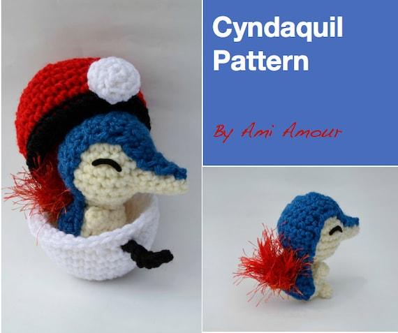Cyndaquil Pattern Amigurumi Pokemon Crochet From Amiamour On Etsy Studio