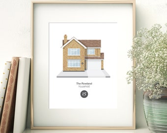 Personalised Home Portrait Illustration