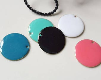set of 5 large sequins round shape in various colors