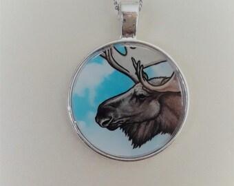 """1"""" Moose necklace"""