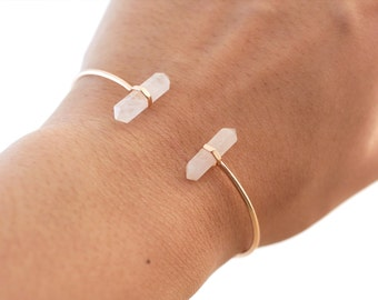 Rose Quartz Rose Gold Bracelet | Rose Quartz Bracelet | Rose Gold Bracelet | Rose Gold | Bridesmaids Jewelry | Bridal Gifts | Gift for Bride