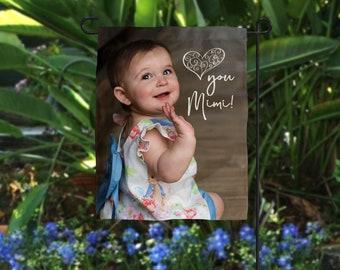 Photo Mother's Day Gift, Photo Flag, Nana Photo Gift, Personalized Flag, Grandmother Photo Gift, Mother's Day Photo Gift, Picture Gift