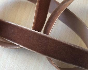 pretty Brown velvet Ribbon 060