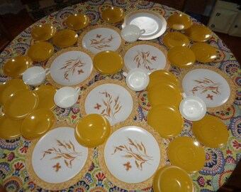 Retro Melmac 37 pieces Dinnerware plastic dishes set