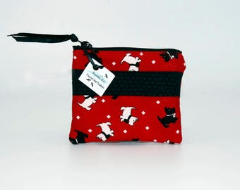 Scottie & Westie Red Coin Purse