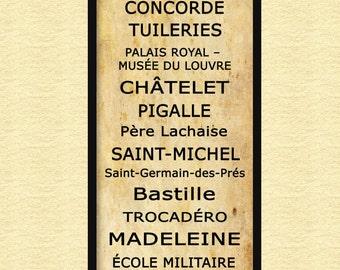 Paris metro sign | Etsy