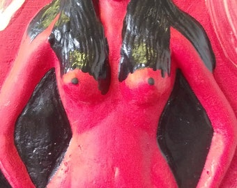 "The Pomba Gira Altar Statue,Danteria The Religion,a13""x6.5"""