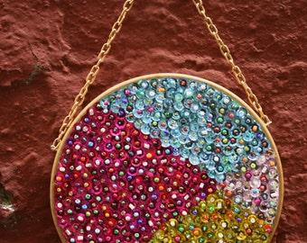 Sequins&beads hoop