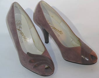 Pumps open ends vintage Sonata sewing made in France size 40