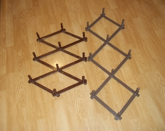 Vintage Expanding Cup Rack, Hat Rack , Decor
