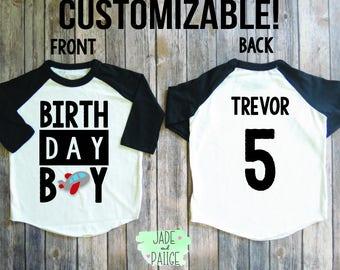 Birthday Boy Shirt, Birthday boy personalized, Toddler boy birthday, Baby boy shirt, boys birthday party, birthday customize shirt