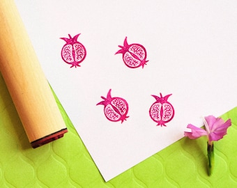 Pomegranate Rubber Stamp
