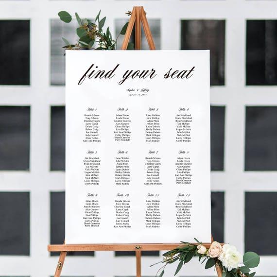 6 sizes wedding seating chartseating chart