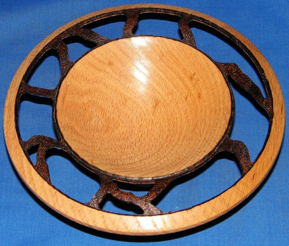 Oak Artistic Woodturning - Encore - with Pyrography and Carving (28-11)