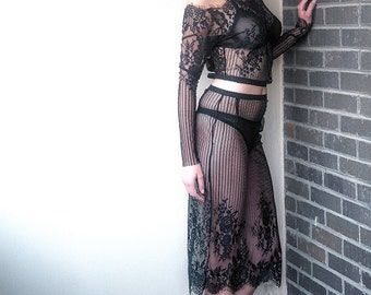 Leo Lace Skirt. Irina Shad Intimates. Bra, underwear-Made to order.