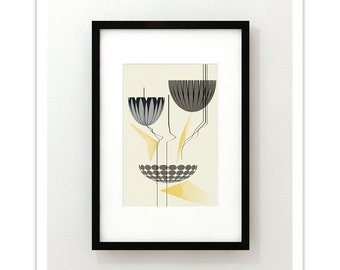 LOTUS 192 - Giclee Print - Mid Century Modern Danish Modern Abstract Modernist