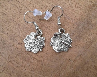 Dragonfly Earrings,Mothers Day Gift,Western Southwestern Earrings,Dragonfly and Lilly Pad Earrings
