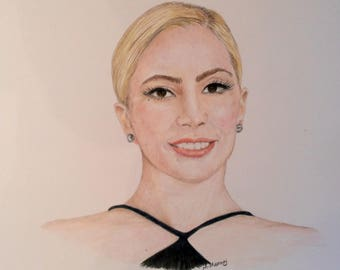 Lady Gaga Colored Pencil 11x14