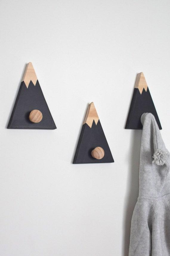 Haken für Kinder Berg Wandhaken Garderobenhaken Berggipfel