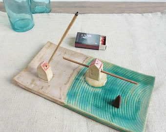 incense burner ceramic, incense holder, incense sticks holder house, incense dish
