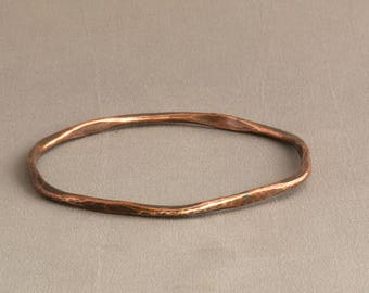 Copper Stacking Bangle, Textured Copper Bangle, Copper Bracelet, Stackable Bangle, Stacking Bangle, Hammered Copper Bangle, Bangle Bracelet