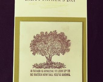 Mens Tree Fathers Day Card