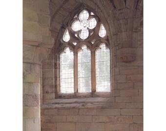 Jedburgh Light Fine Art Photography Scotland Ruins Abbey The Borders Architecture Dreamy Light Stone Window Romantic Art Outlander Historic