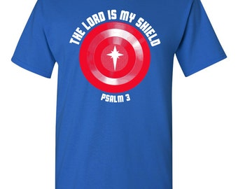 The Lord is MY Shield PSALM 3 Religious Christian Faith Men's Tee Shirt 1393