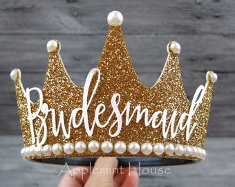 Bridesmaid Crown,Custom  Crown, Bridesmaid Crown Headband,Bridesmaid Crown,Bridesmaid Crown Gold Crown,Wedding Crown,Bachelorette Crown