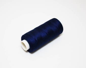 Wire spool sewing 350 m blue sewing thread, Midnight Blue midnight 100% polyester
