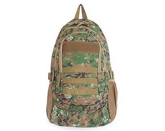 Mens Camoflage Backpack Camo Rucksack Casual College School Bag 6033