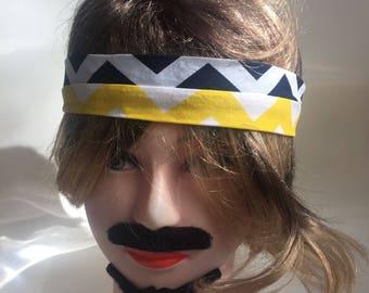 Blue ,Yellow and White triangle Headband