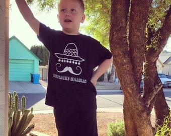 Moustache gracias shirt, mexican shirt, funny shirt, kids shirt, toddler shirt, mustache shirt, sombrero shirt, jokes shirt, mexican jokes